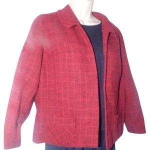 Burberry's 1960's Red & Black Tweed Wool